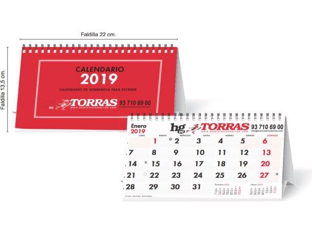 Calendario De Mesa Con 13 Hojas Y Wire-o Atodo Color