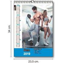 Calendarios Trimestrales 13 Hojas 150 Grs personalizados