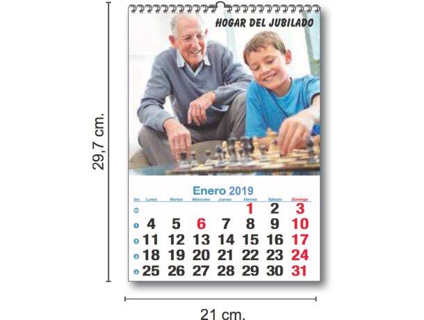 Calendario De Pared Mensual De 7 Hojas A 2 Caras