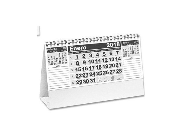 Calendario personalizado mensual notas de sobremesa para empresas