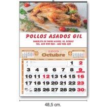 Calendarios Baratos Cartela Plastificado Con Foto publicitarios personalizado