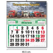Calendarios Baratos De Pared Cartela Couché personalizados