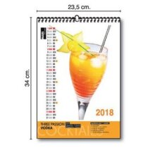 Calendario de pared trimestral 23.5x34 cm pers