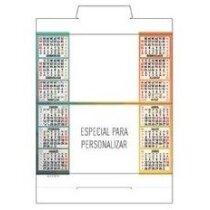 Calendario de sobremesa semestral neutro personalizado
