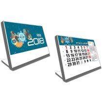 Calendario de mesa con soporte de plástico motivos estandar personalizado