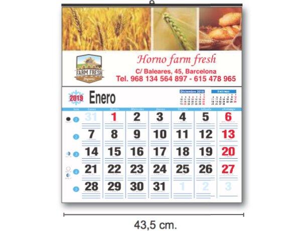 Calendarios De Pared Cartela Personalizados Couché