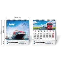 Calendario de sobremesa pequeño con impresion a todo color