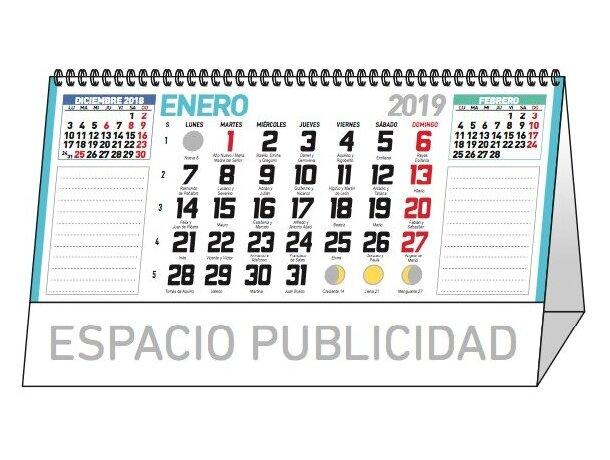 Calendario de sobremesa 13 hojas mensual notas