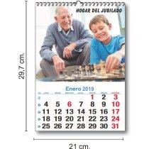 Calendario De Pared Mensual Con 13 Hojas para imprimir