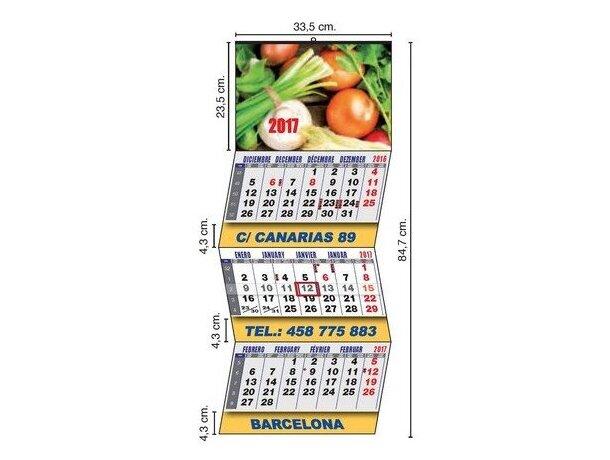 Calendario de pared con 3 meses vista personalizado