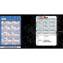 Calendario De Bolsillo Con Motivos Estanadares Para Personalizar personalizados