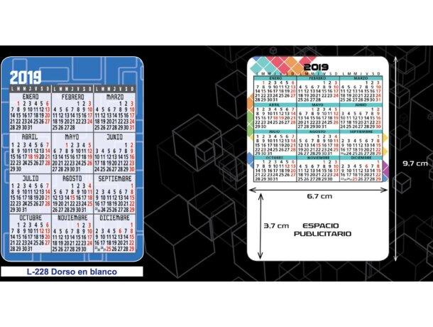 Calendario De Bolsillo Con Motivos Estanadares Para Personalizar