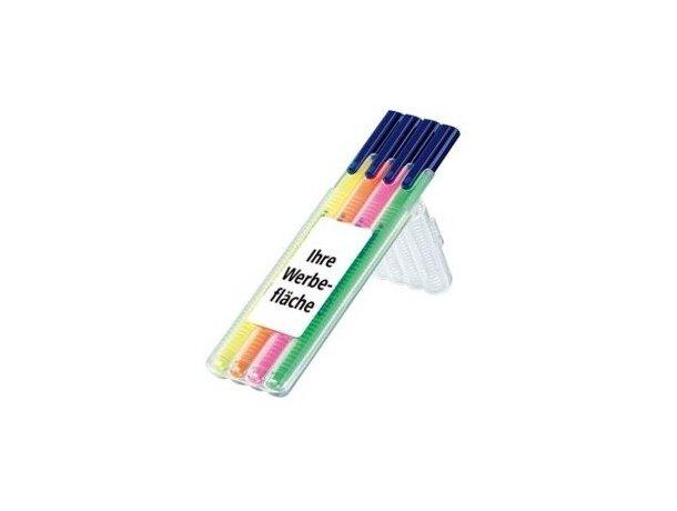 Estuche de rotuladores en color neón