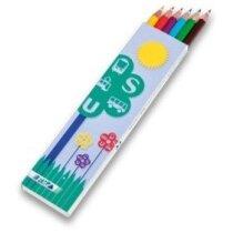 Caja con 6 lápices hexagonales personalizada