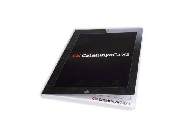 Cuaderno fresado con tapas de cartón personalizadas a todo color personalizado