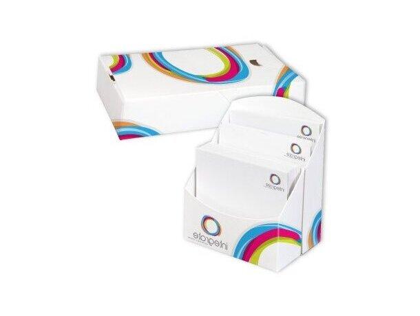 Cubetas para notas en cartón a todo color personalizada