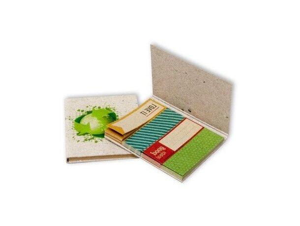 Set de Notas Adhesivas de Cartón Reciclado personalizada
