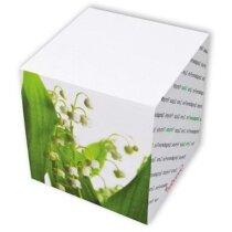 Taco de notas encolado tamaño 9x9 y 900 hojas personalizada