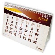 Calendario sobremesa modelo barraca grabada
