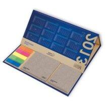Calendario de sobremesa plegado con notas adhesivas personalizada