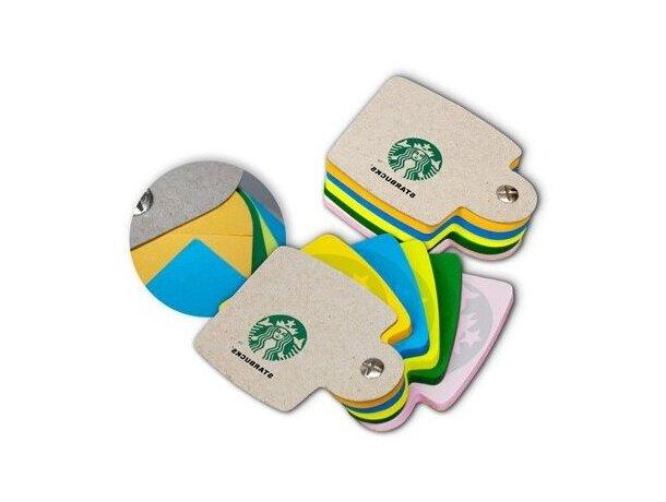 Tacos de Notas Pivotantes con Cartón Reciclado personalizada