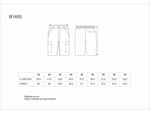 Tabla medidas del producto 1266