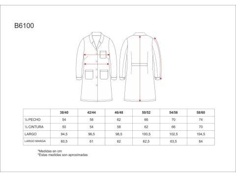 Tabla medidas del producto 65074