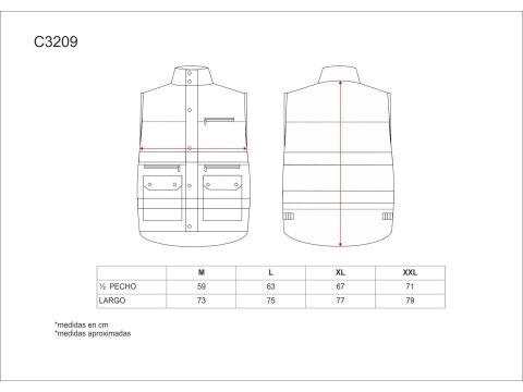 Tabla medidas del producto 65042