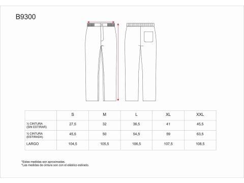 Tabla medidas del producto 65067
