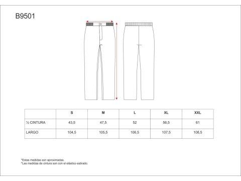 Tabla medidas del producto 65054