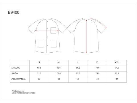 Tabla medidas del producto 65070